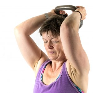 kettlebell triceps extension